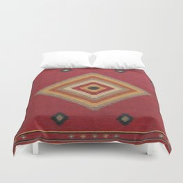 (N14) Red Anthropologie Oriental Moroccan Traditional Artwork. Duvet Cover