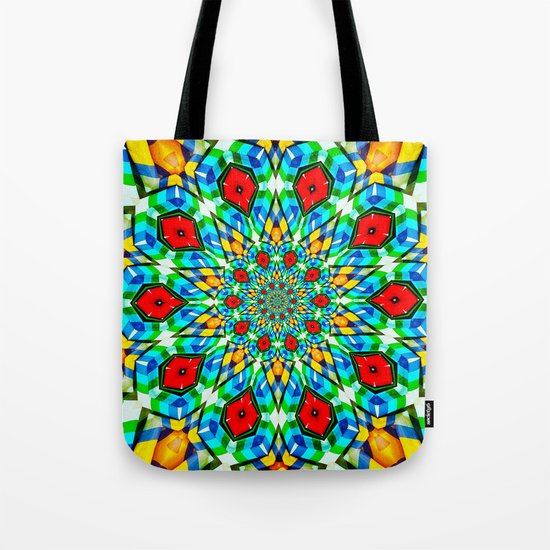 Folded Fabric Flower Tote Bag