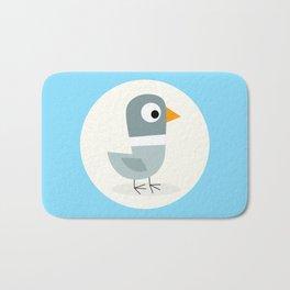Mr Bird Blue Bath Mat