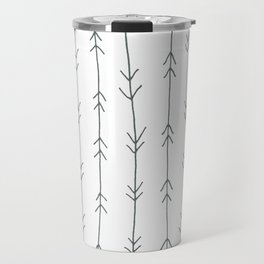 Grey, Steel: Arrows Pattern Travel Mug
