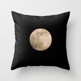 Pink Super Moon 2020 Throw Pillow