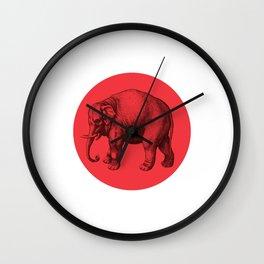 Vintage Elephants Wall Clock
