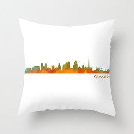 Kansas City Skyline Hq v1 Throw Pillow