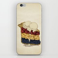 pie iPhone & iPod Skins featuring American Pie by Megs stuff...