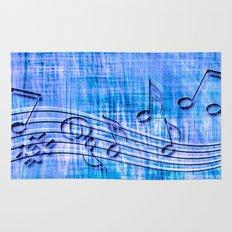more music, blue Rug