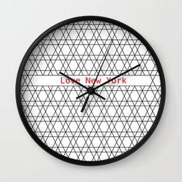 Love New York City. Wall Clock