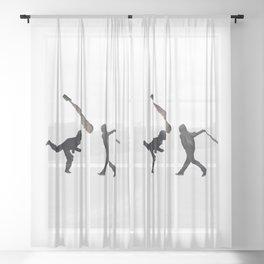 Riot Baseball Sheer Curtain