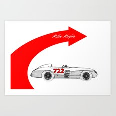 RennSport Speed Series: Mille Miglia Art Print