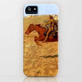 "Frederic Remington Western Art ""Pony Express"" iPhone Case"
