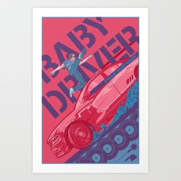 Baby Driver Alternate Movie Poster Art Print