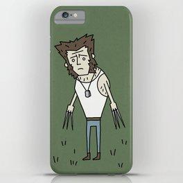 Sad Wolf Dude in a Field iPhone Case