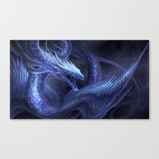 Blue Crystal Dragon Canvas Print