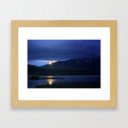 Strawberry Moon Over Sparks Lake - Oregon Landscape Framed Art Print