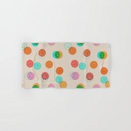 Smiley Face Stamp Print Hand & Bath Towel