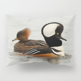 A Tale of Two Hooded Mergansers Pillow Sham