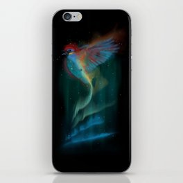 Aurora bird iPhone Skin