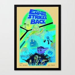the empire strikes Lego Canvas Print