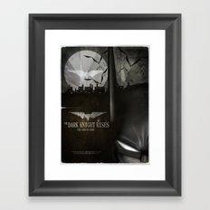 dark knight rises movie fan poster Framed Art Print