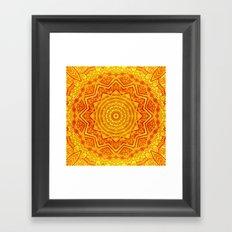 Mandala - Yellow Framed Art Print