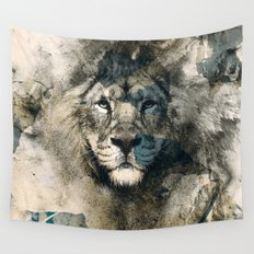 LION CAMOUFLAGE Wall Tapestry