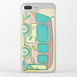 Hippie Bus Clear iPhone Case