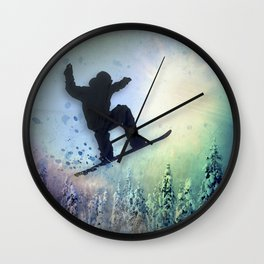 The Snowboarder: Air Wall Clock
