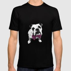 Pink Bowser MEDIUM Black Mens Fitted Tee