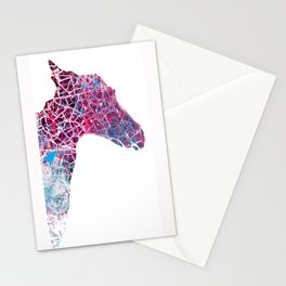 Little horse, monsters, colors Stationery Cards