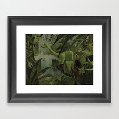 Dinosaur In The Jungle Framed Art Print