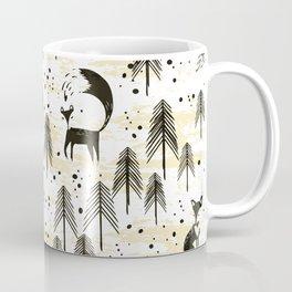 Foxy in winter pine forest Coffee Mug