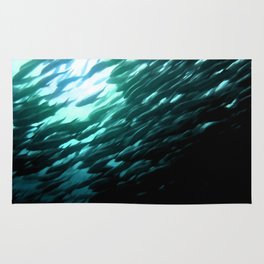 Thousands of jack fish Rug