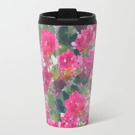 Magenta Geraniums Travel Mug