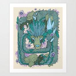 Naydra, Dragon of Wisdom Art Print