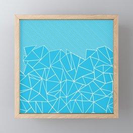 Ab Lines 45 Electric Framed Mini Art Print