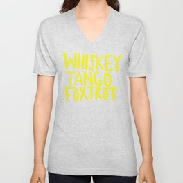 Whiskey Tango Foxtrot - Color Edition Unisex V-Neck