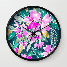 SUP DAWG Dogwood Floral Wall Clock