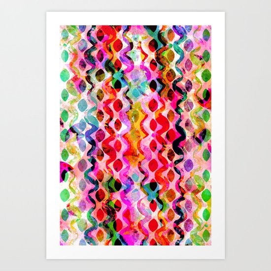Summer pattern No.2 Art Print
