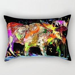 Moose Grunge Rectangular Pillow