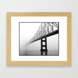Savanna-Sabula bridge - 2 Framed Art Print