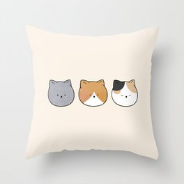 cats 2 Throw Pillow