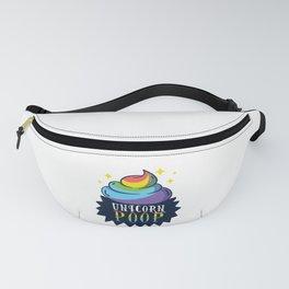 Rainbow Poop Emoji - Magic Unicorn Poo Funny T-Shirt Fanny Pack