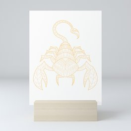 Scorpio Birthday Boy October November Mini Art Print
