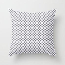 Smokey Topaz Polka Dots Throw Pillow