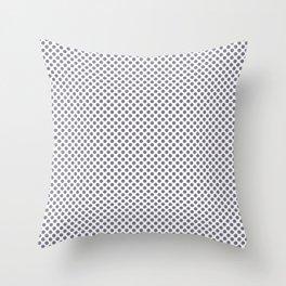 Smokey Topaz Polka Dots Throw Pillow