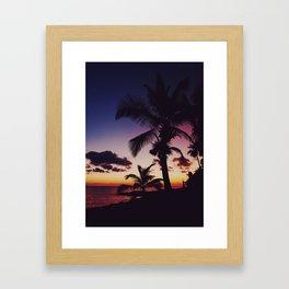Summer Night Sunset Framed Art Print