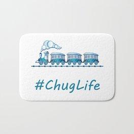 #ChugLife Blue Train Bath Mat