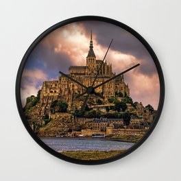 On The Coast Of Normandy Wall Clock