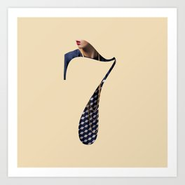 Fluttuo countdown numbers - seven Art Print