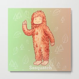 Sasquatch - Cute Cryptid Metal Print