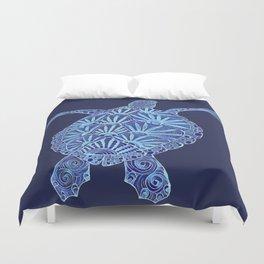 blue turtle Duvet Cover